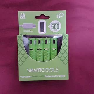 Brand New SmartToools Micro USB Rechargeable Battery 1000Mah (4 x AA size)