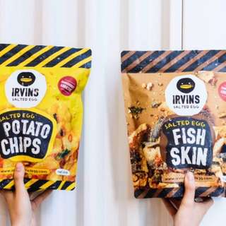 [READY STOCK] IRVIN'S SALTED EGG FISH SKIN/ POTATO CHIP
