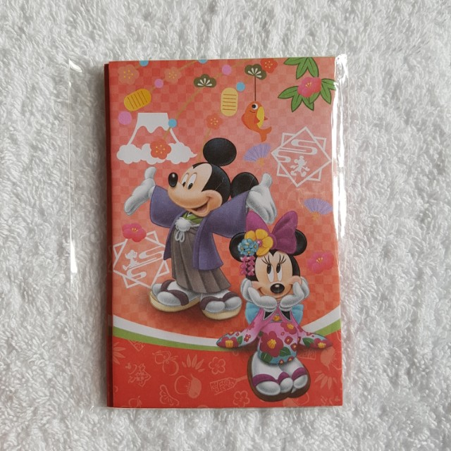 5pcs Disney Mickey Minnie Mouse Kimono Cute Cartoon Character Red Packet Angbao For Chinese New Year Cny Made In Japan
