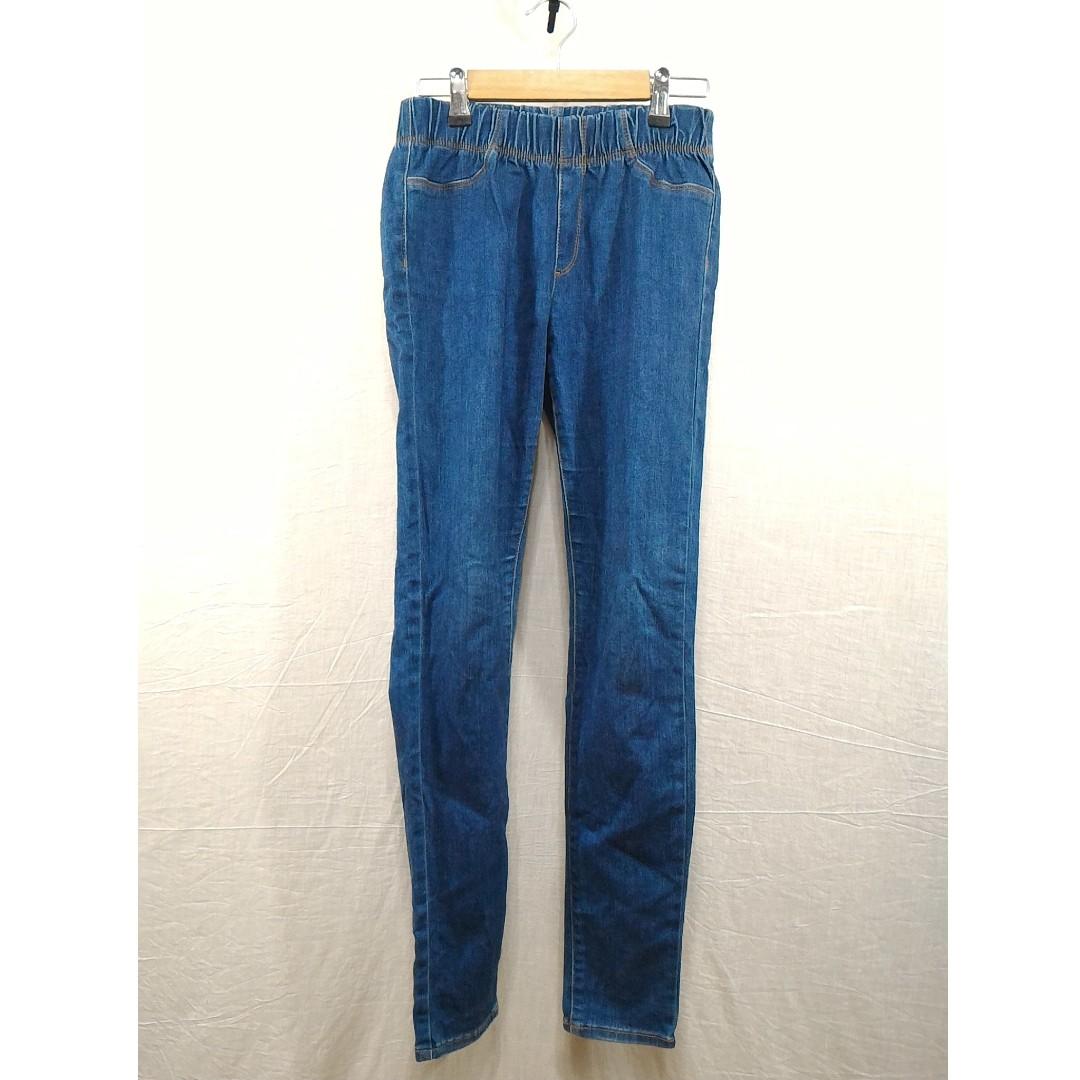 丹寧藍特級彈性長褲