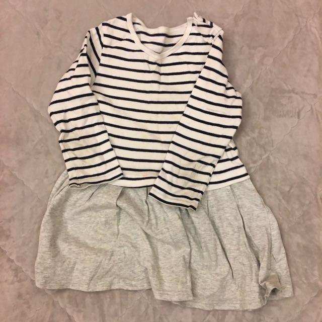女孩條紋連身裙