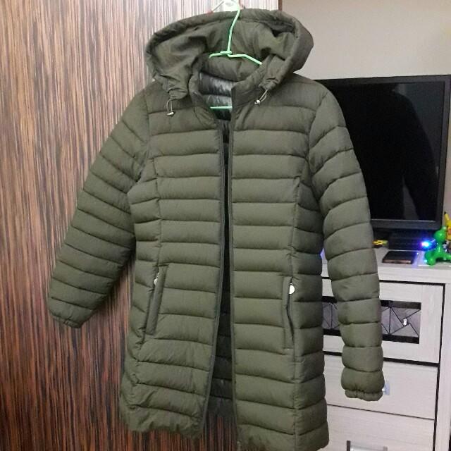 科技羽絨棉大衣保暖外套*墨綠色#舊愛換新歡