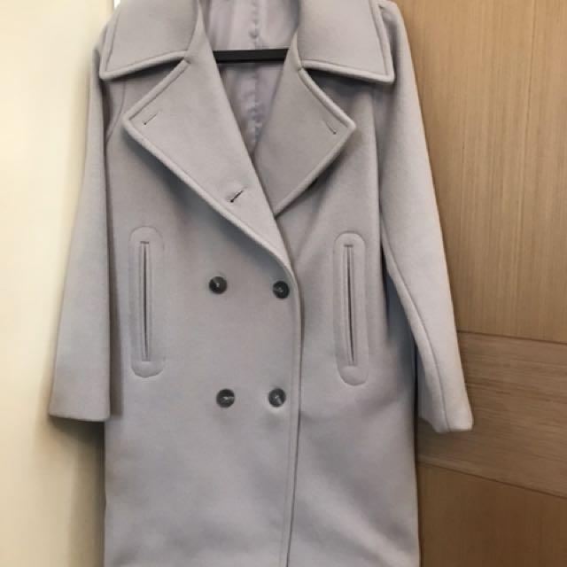 韓貨灰色大衣