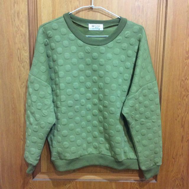 綠點長袖上衣