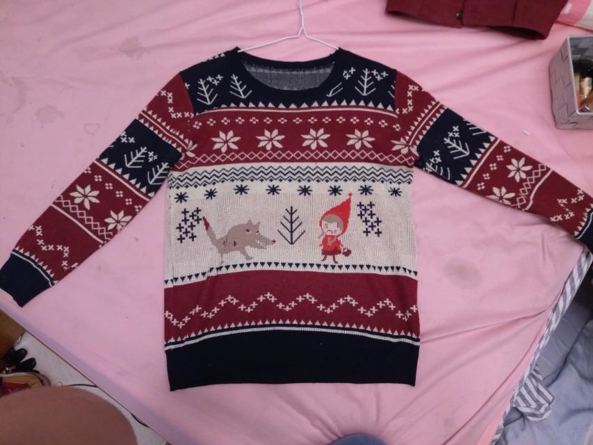 日系專櫃針織民族風童趣可愛毛衣