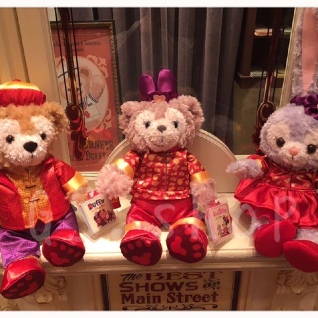 🇭🇰 香港迪士尼 ✨ 新年 達菲 雪莉梅 雪莉玫 畫家貓 史黛拉 娃娃 ss號