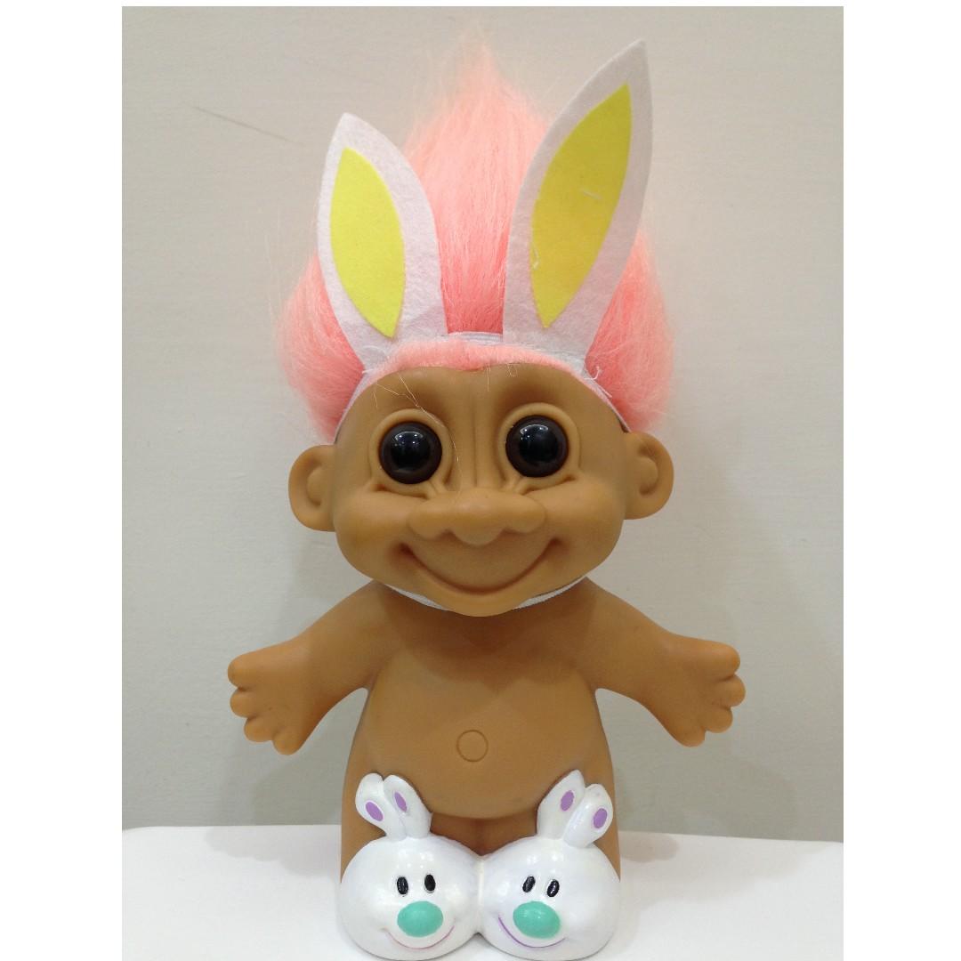 幸運小子 (限定胖粉兔)醜娃、巨魔娃娃、醜妞、Troll Doll、魔髮精靈