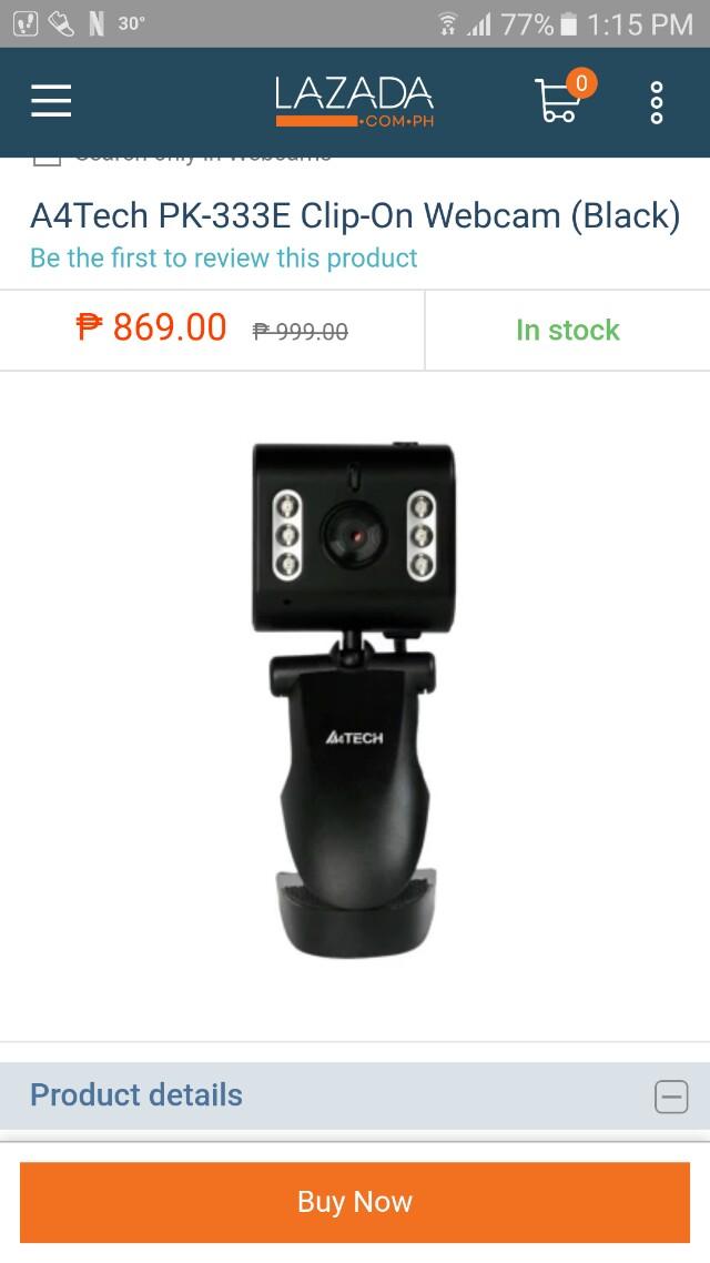 A4Tech PK-333E Clip-On Webcam