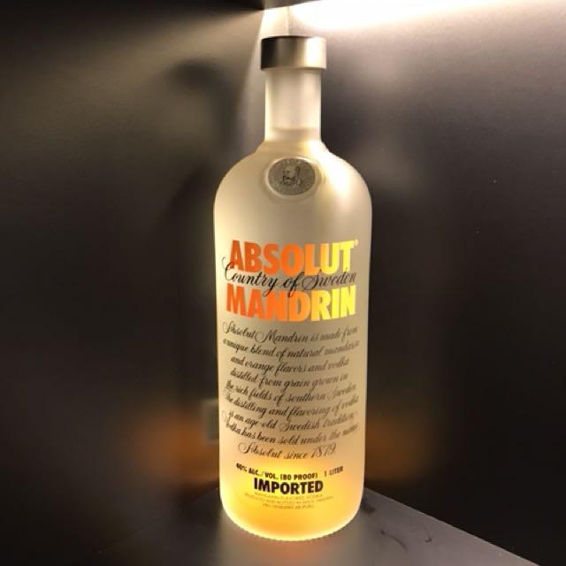 Absolut Vodka 1L Unseal
