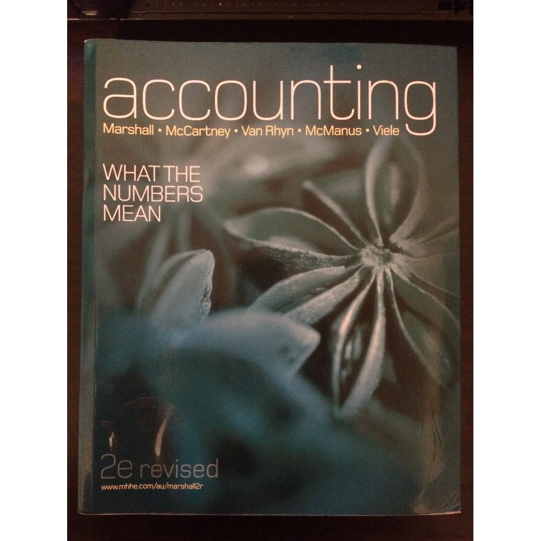 Accounting - What The Numbers Mean 2nd revised Edition (like NEW) (price O.N.O.)