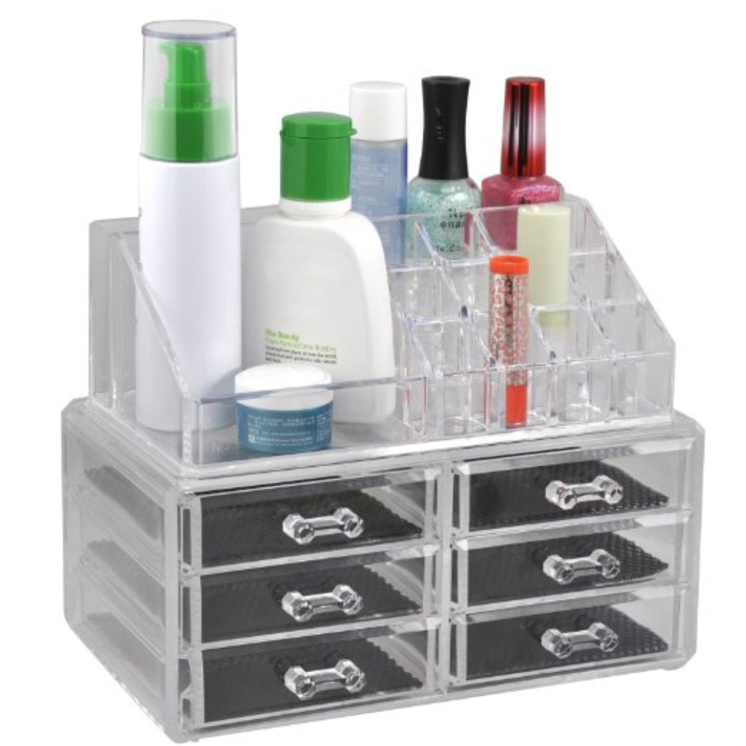 Acrylic Cosmetic Organizer 6 Drawers Makeup Storage Case