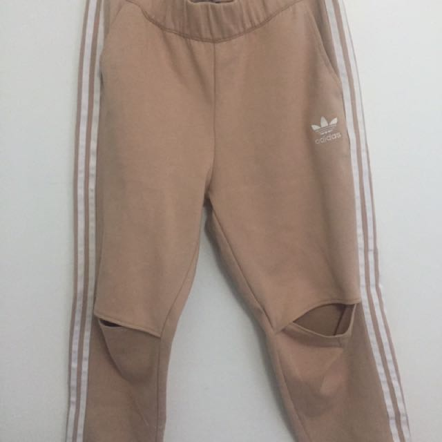 Adidas beige/nude pants