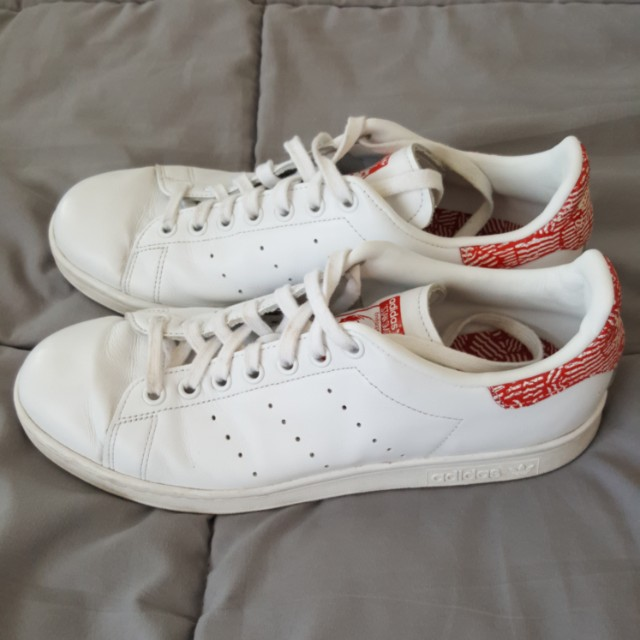 ADIDAS STAN SMITH WHITE/RED SHOES