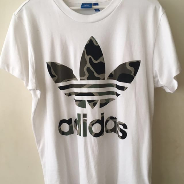 Adidas Women's White/Camo Tee