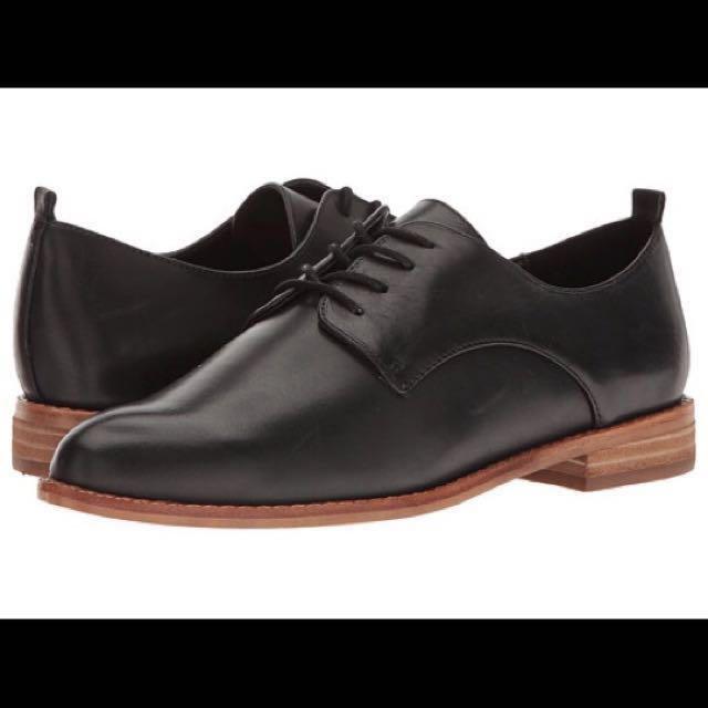 Aldo black leather shoes oxfords dress shoes flats size 6