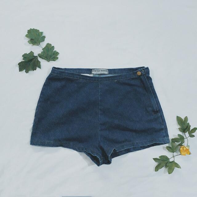 American Apparel Denim Highwaist Shorts
