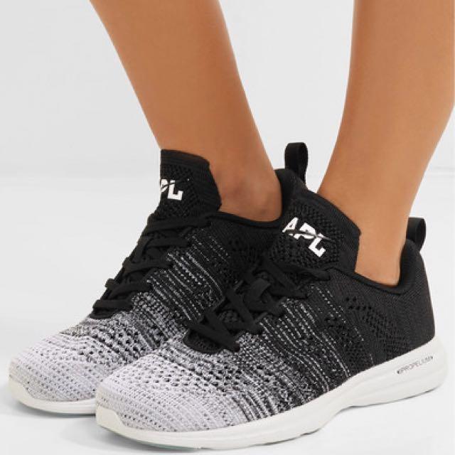 APL ATHLETIC PROPULSION LABS TechLoom Pro 女款運動休閒編織跑鞋 - 黑白漸層 型號:4217862016-95