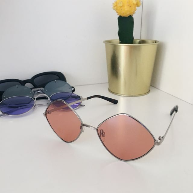 Asos red sunglasses