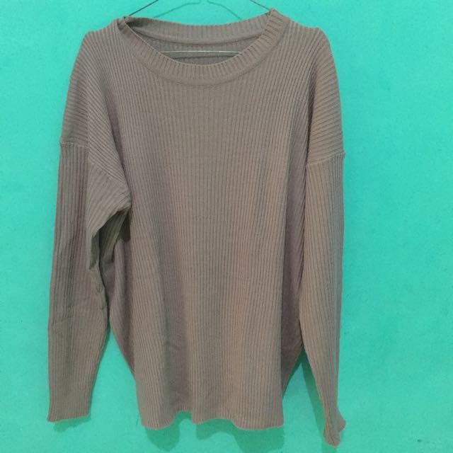 Atasan rajut (sweater rajut)