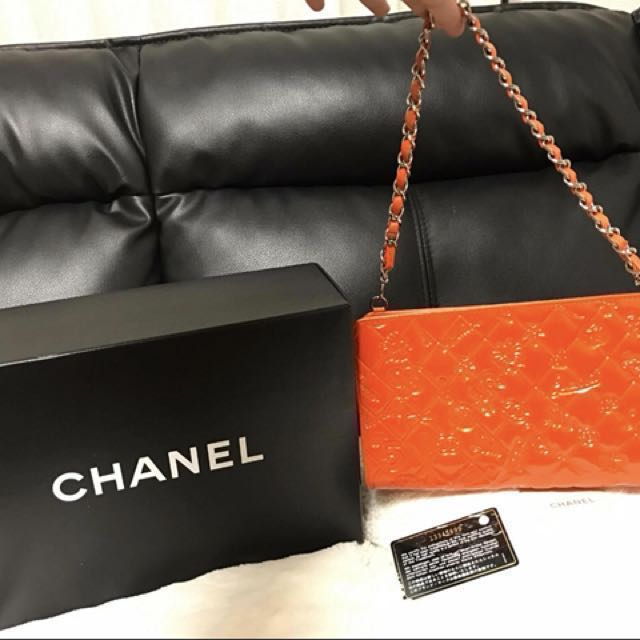 💯Authentic Chanel Chain pouch bag