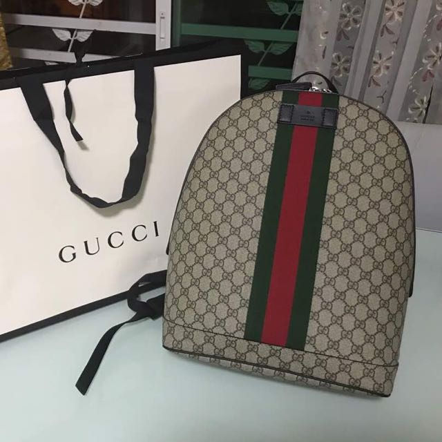 555b850d3581 Authentic Gucci Supreme Backpack with Web, Luxury, Bags & Wallets on ...