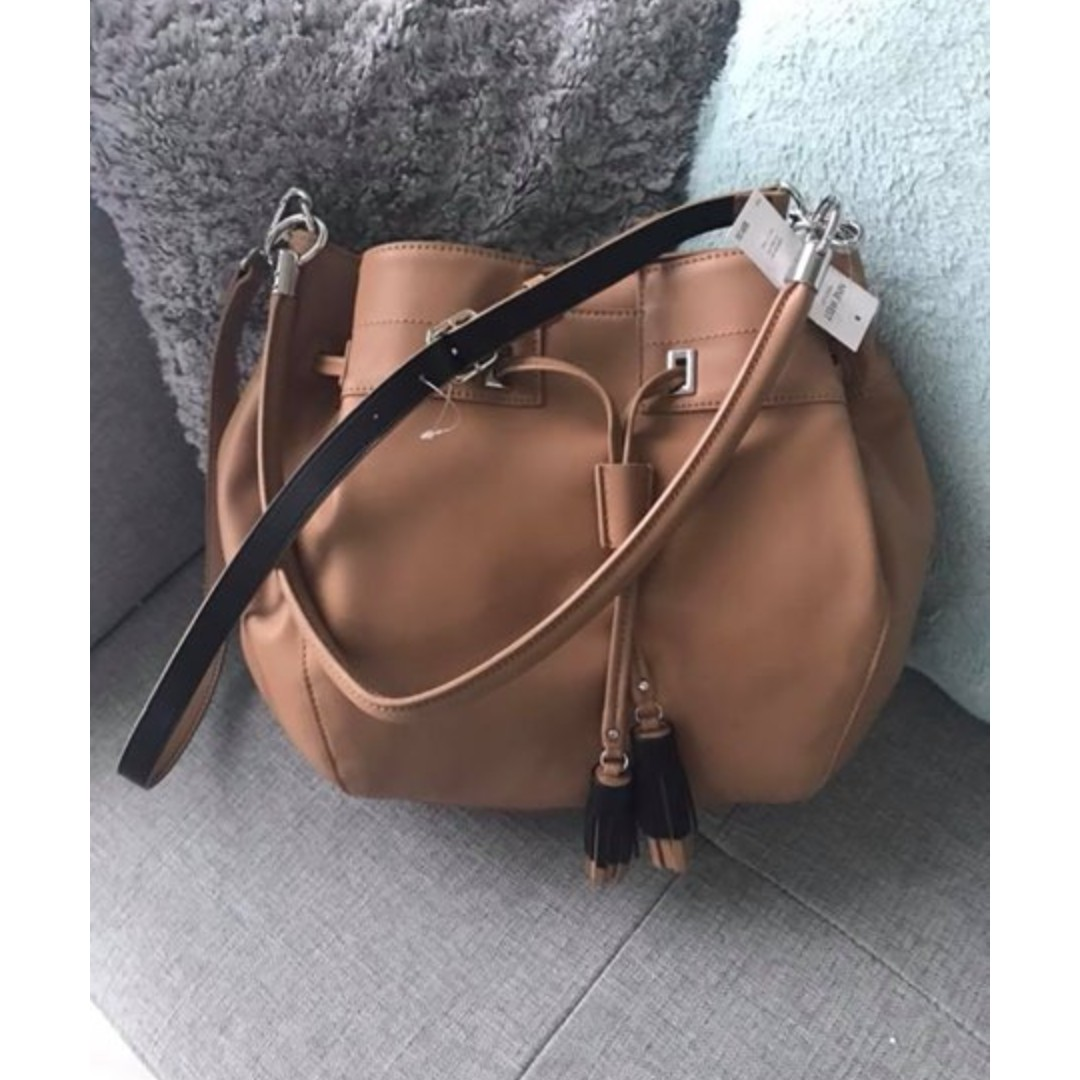 Authentic Nine West Take a Lift Crossbody Bucket Bag