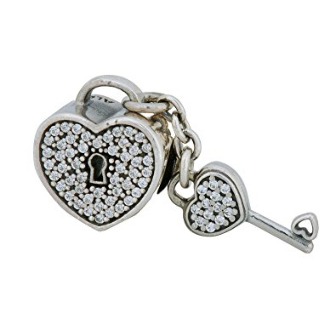 4352cd907 ... clearance authentic pandora charms 20 discount pandora lock of love  charm 791429cz womens fashion jewellery on