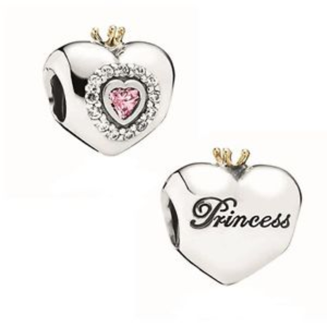 8de4bd632 ... Authentic Pandora Charms 20% Discount ♡ PANDORA PINK PRINCES 2018  Authentic 925 Silver Beads Princess Heart ...