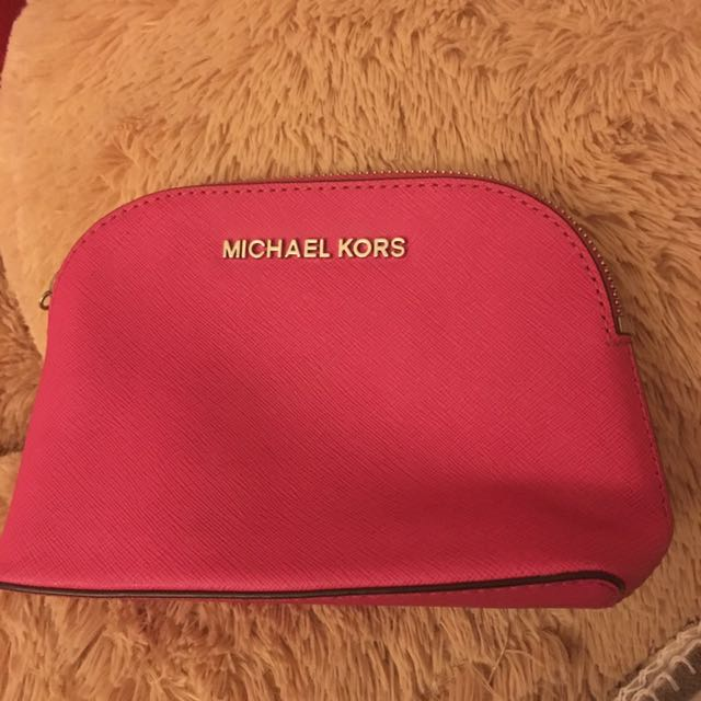 Authentic pink Michael Kors Make up bag
