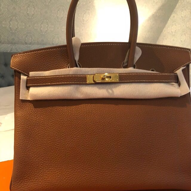 ffd2732adce ... inexpensive authentic pre owned hermes birkin 35 togo in gold womens  fashion bags wallets on carousell