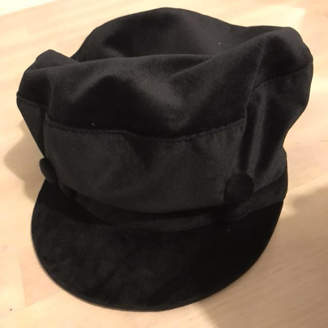 f86c7c62 Authentic ZARA Velvet Nautical Cap, Women's Fashion, Clothes, Others ...