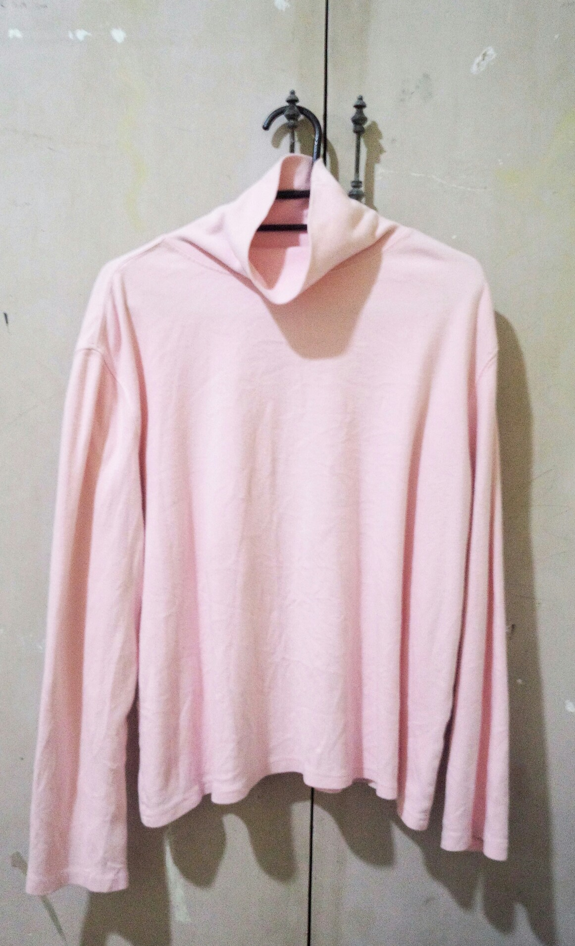 Baby Pink turtle neck Pullover ✨ Preloved Women s Fashion Clothes