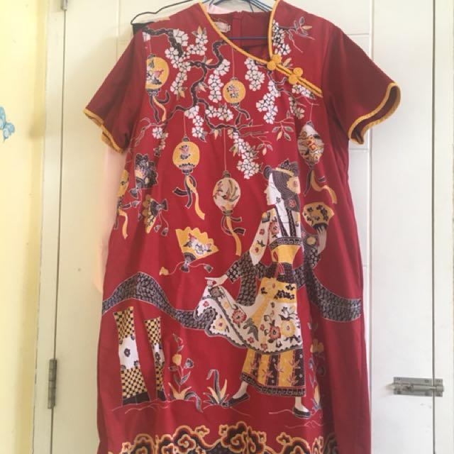 Baju batik Qipao Dea Valencia