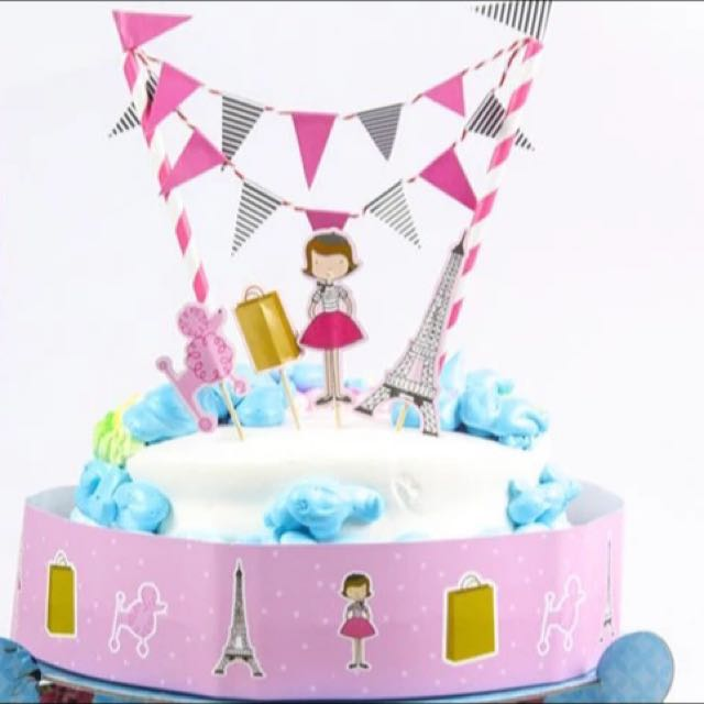 Birthday Bunting Cake Topper Kit