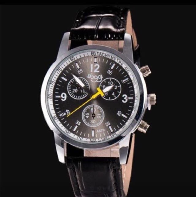 Black men's watch