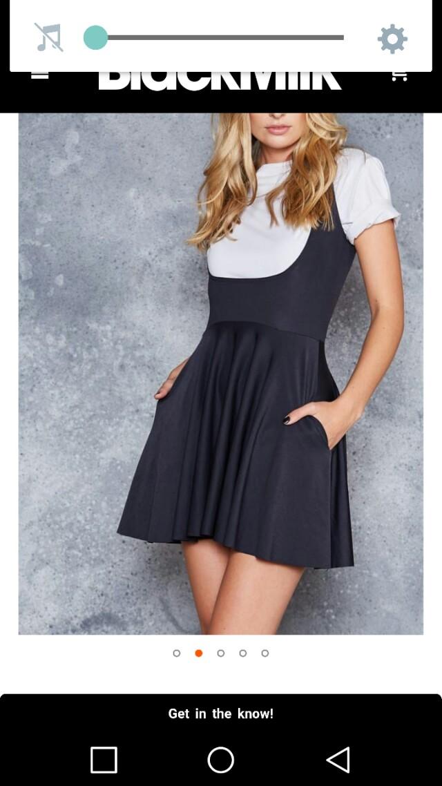 Black milk underbust dress
