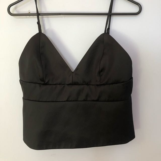 Black silk top never worn