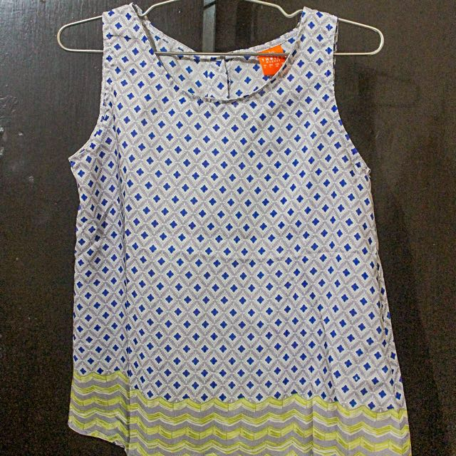Blue and Yellow Buttoned Tank