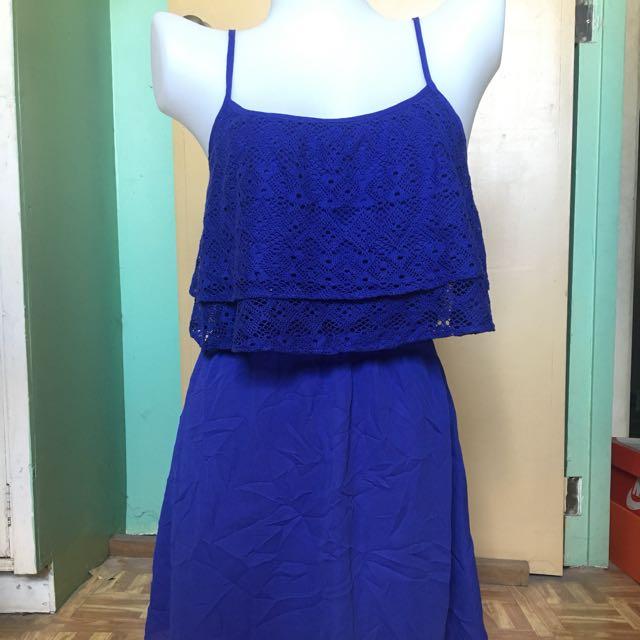 Blue eyelet dress