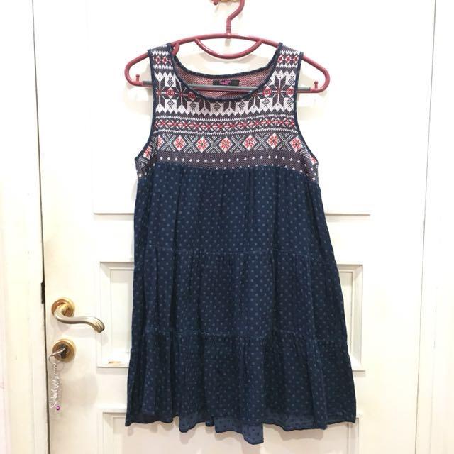 Blue Tribal Dress