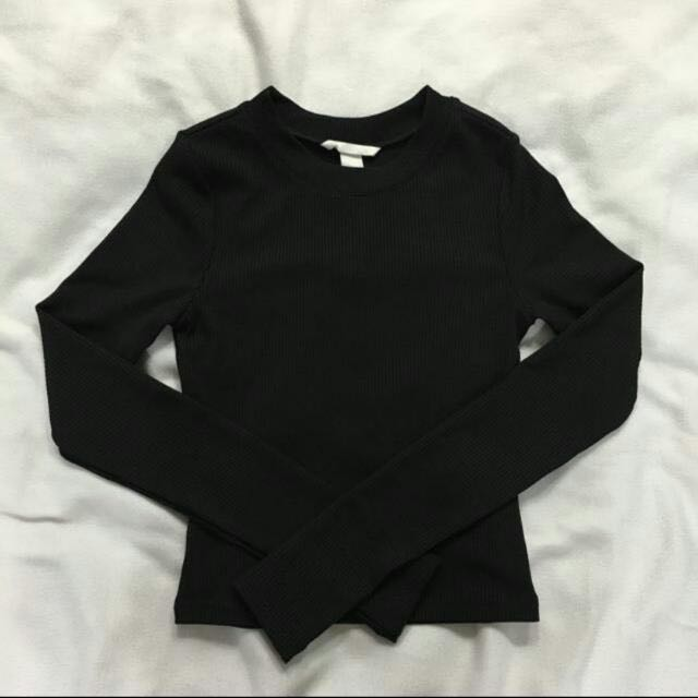 bd226e12203064 BN H&M Black Ribbed TOP, Women's Fashion, Clothes, Tops on Carousell