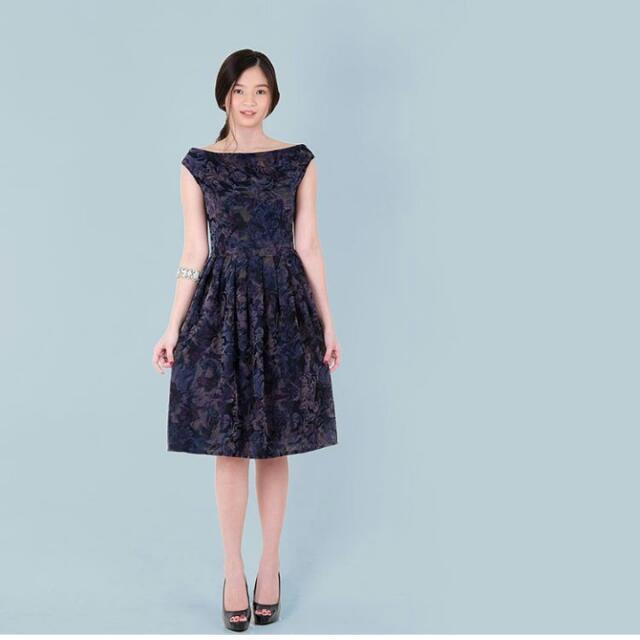 Bnew HTP Embosed Velvet Dress
