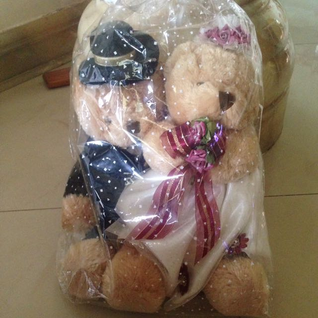 Boneka teddy bear couple weddinv