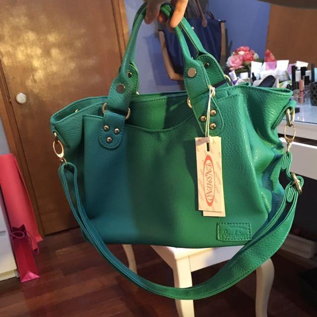 BRAND NEW WITH TAG emerald handbag