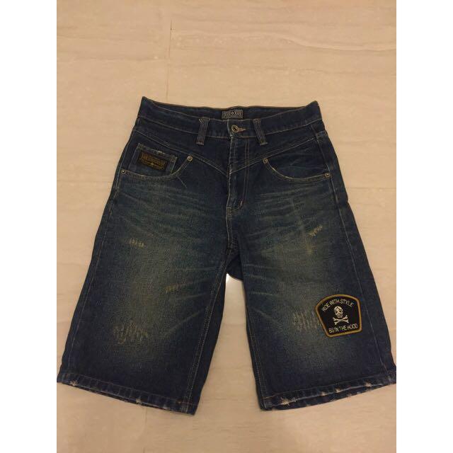 B-side 牛仔短褲
