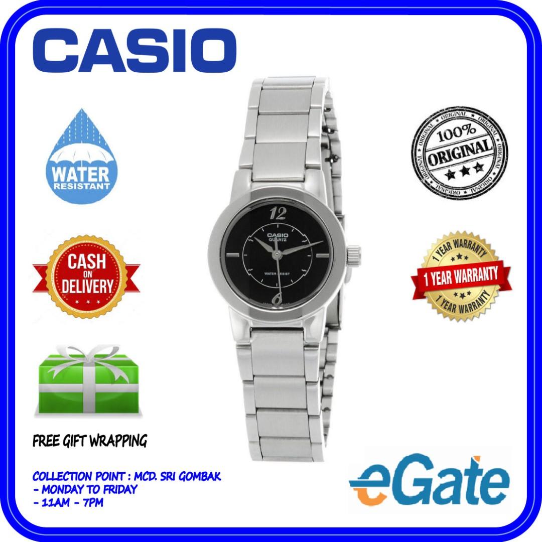 79a5b19c3fd Casio LTP-1230D-1C Analog Ladies Classic Black Dial Stainless Steel ...