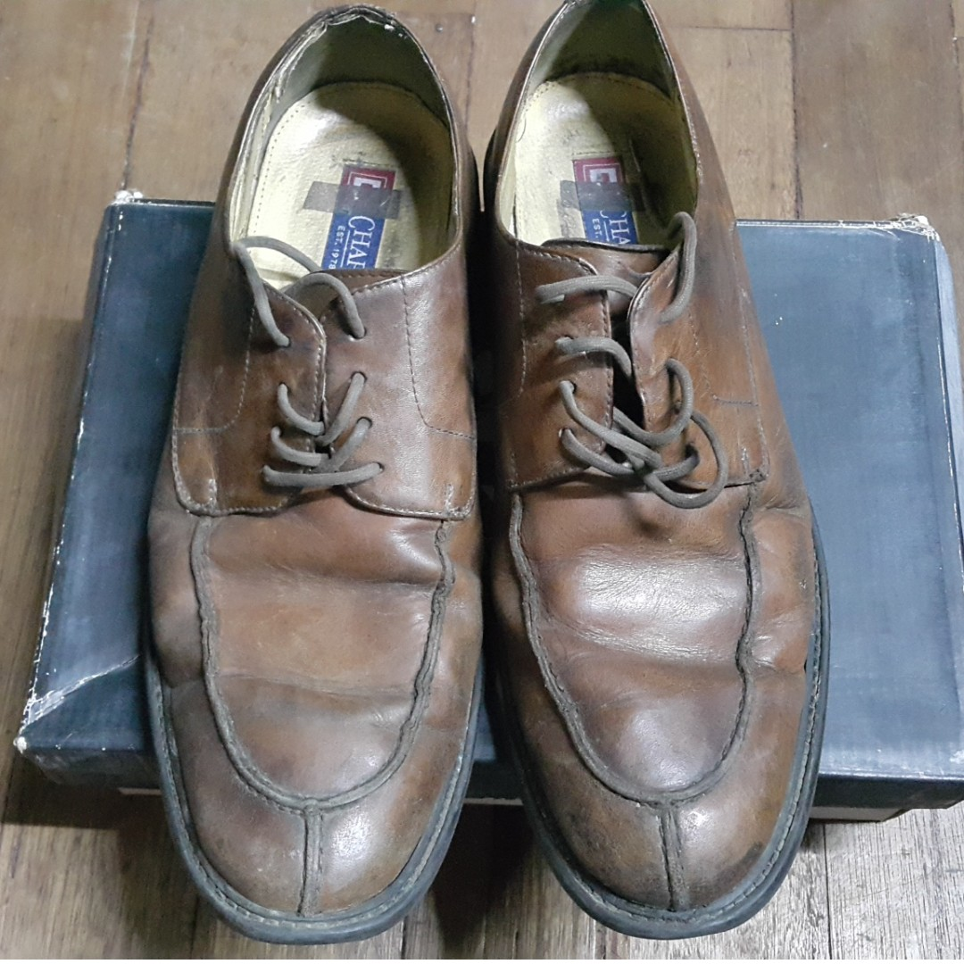 Chaps Brown leather shoes sz 11.5
