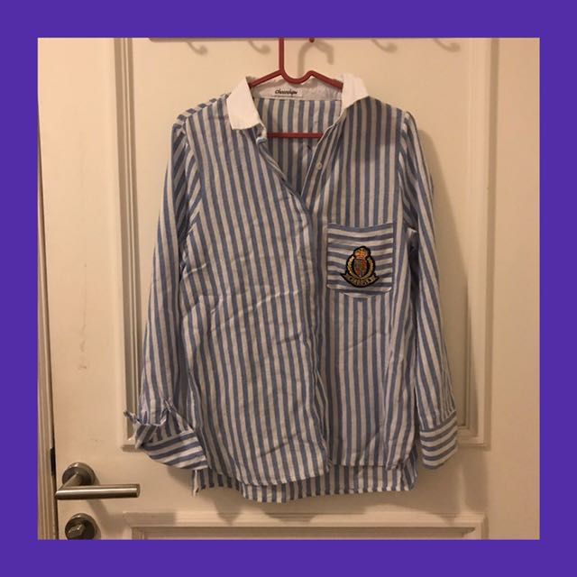 Chocochips Blue and White Stripes Shirt
