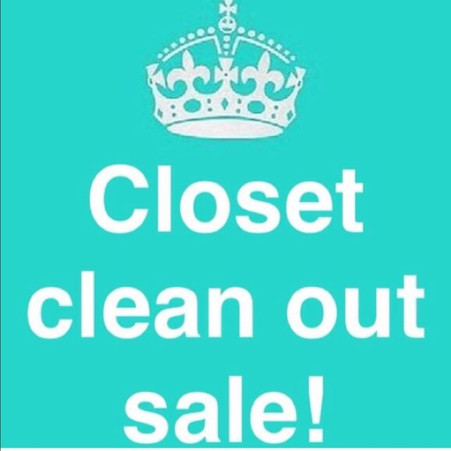 Closet Cleaning Sale!