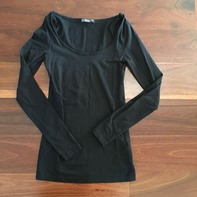 Cotton On Black Long Sleeve Top